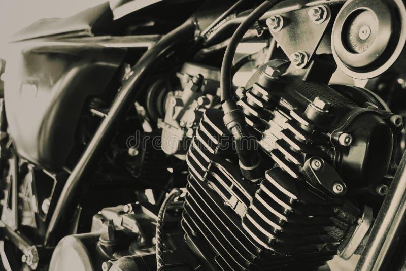 Vieux moteur de Motocycle du ton de vintage de brun de couperet photos libres de droits