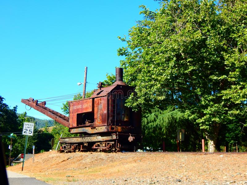 Vieux moteur de train en Californie image libre de droits