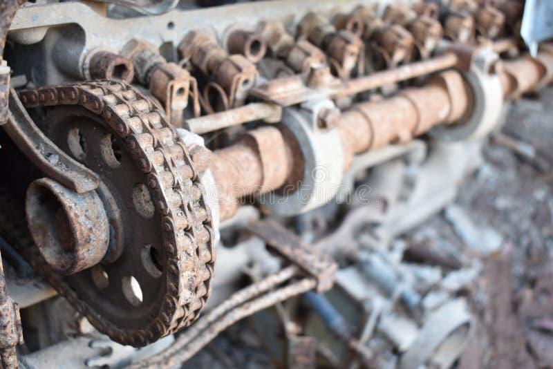 Vieux moteur rouillé photos stock