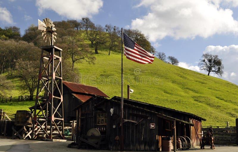Vieux moulin à vent de ranch de Borges photos libres de droits
