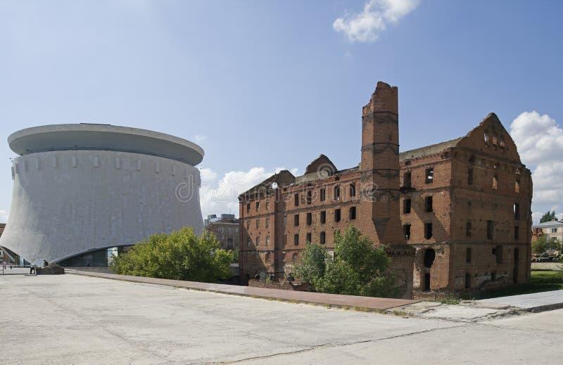 Vieux moulin à Volgograd images libres de droits