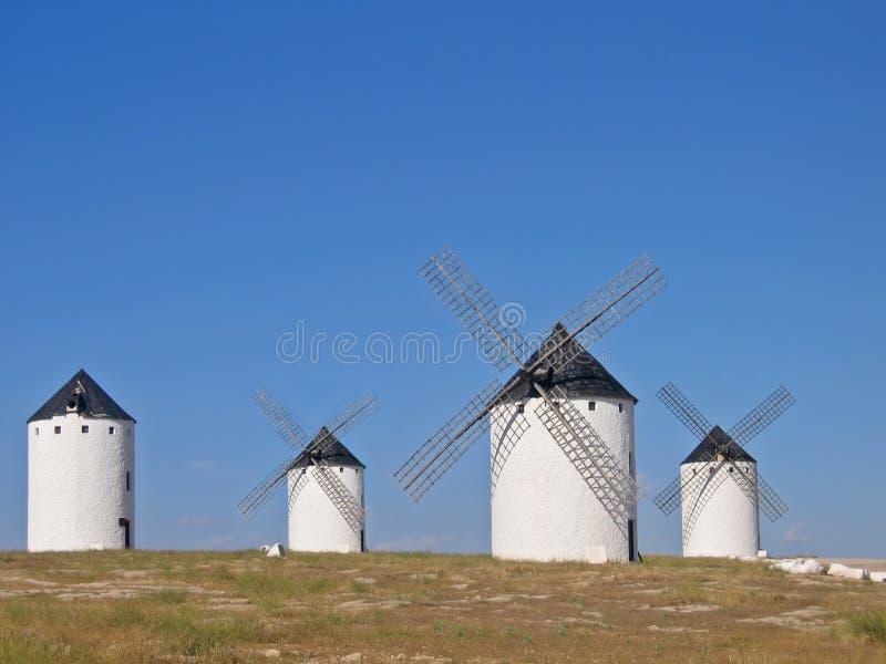 Vieux moulin de vent espagnol photographie stock