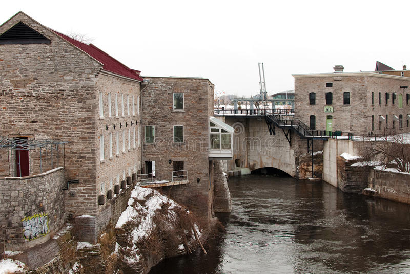 Vieux moulin historique à Ottawa du centre photo stock