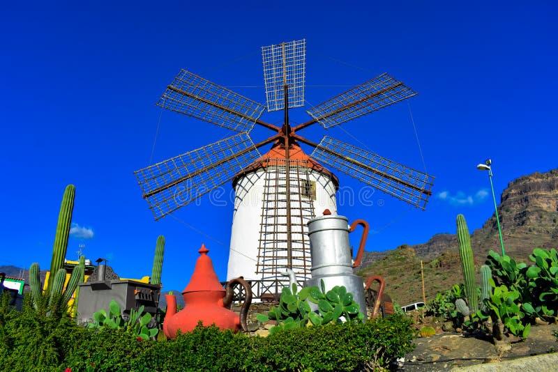 Vieux moulin ? vent images libres de droits