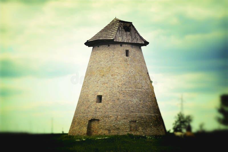 Vieux moulins à vent photo stock