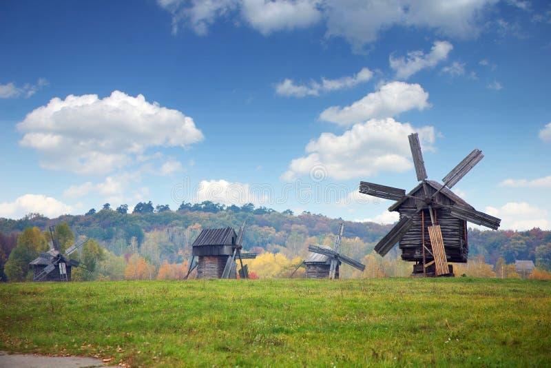 Vieux moulins photographie stock