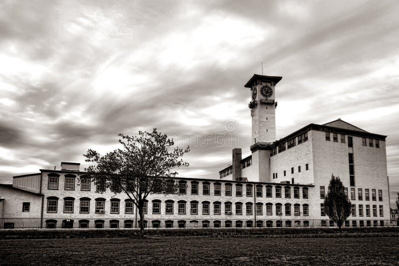 Vieux moulins historiques de Grundy en Bristol Pennsylvania images libres de droits