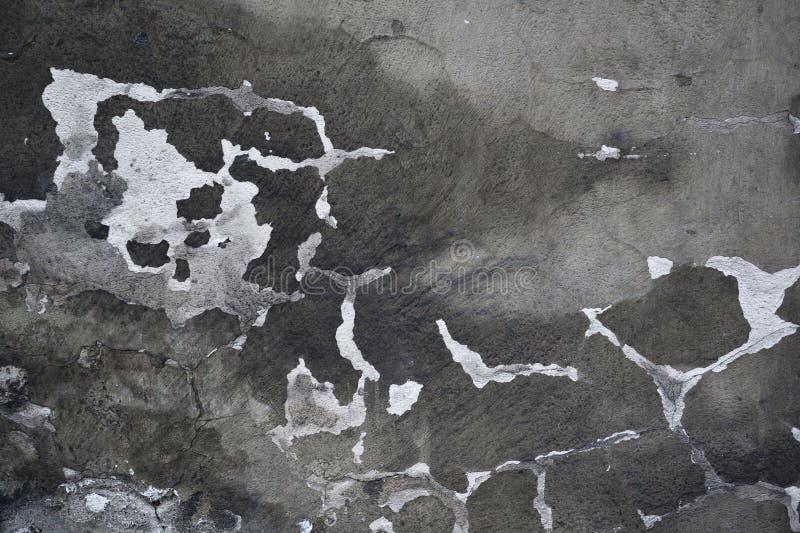 Vieux mur âgé avec la fente images libres de droits