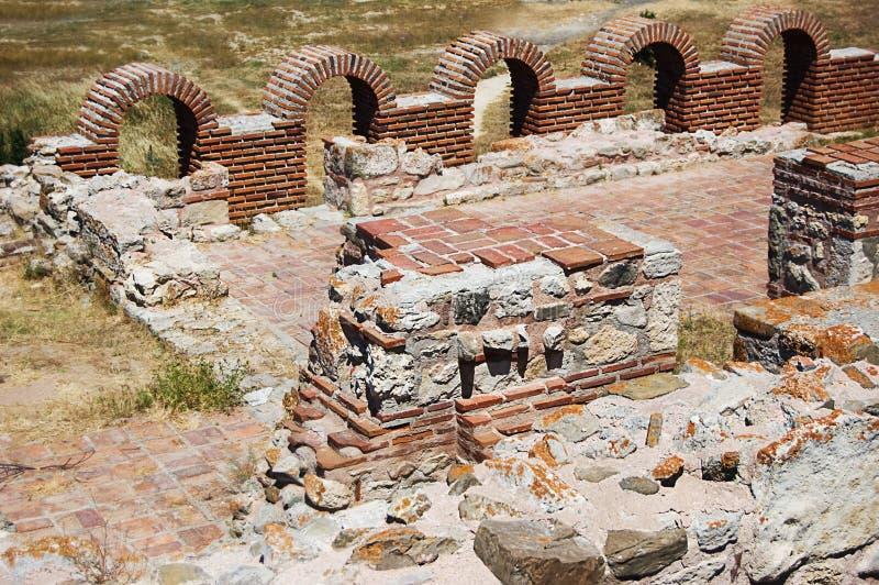 Vieux mur antique de château image stock