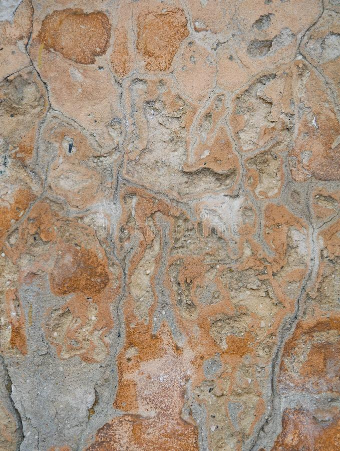 Vieux mur cassé de pierre, pour le fond Texture et fond de pierre T photos stock