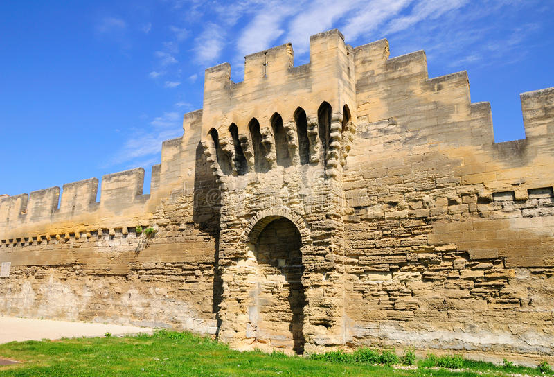 Vieux mur d'Avignon photographie stock