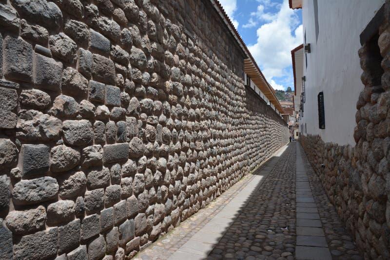 Vieux mur d'Inka dans la ville de Cuzco au Pérou, Amérique du Sud image libre de droits
