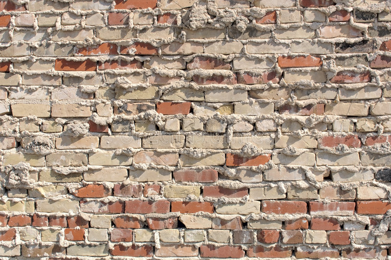 Vieux mur de brique et de mortier photos stock
