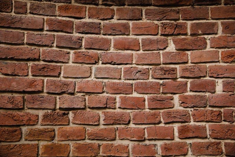 Vieux mur de briques Fond de vieux mur de briques de vintage photographie stock libre de droits
