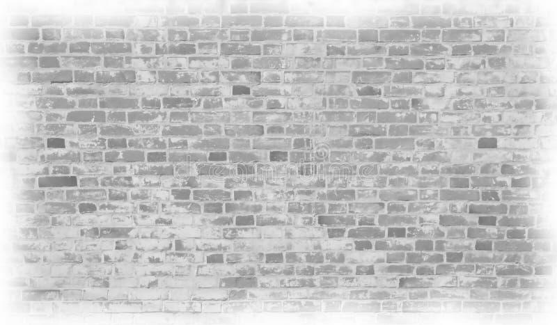 Vieux mur de briques gris pâle dans les photos dessinées par style photographie stock