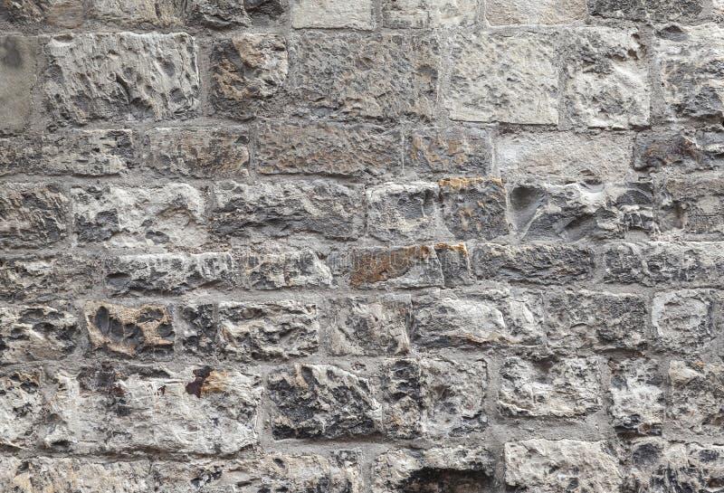 Vieux mur de briques gris sale, texture de plan rapproché photographie stock libre de droits