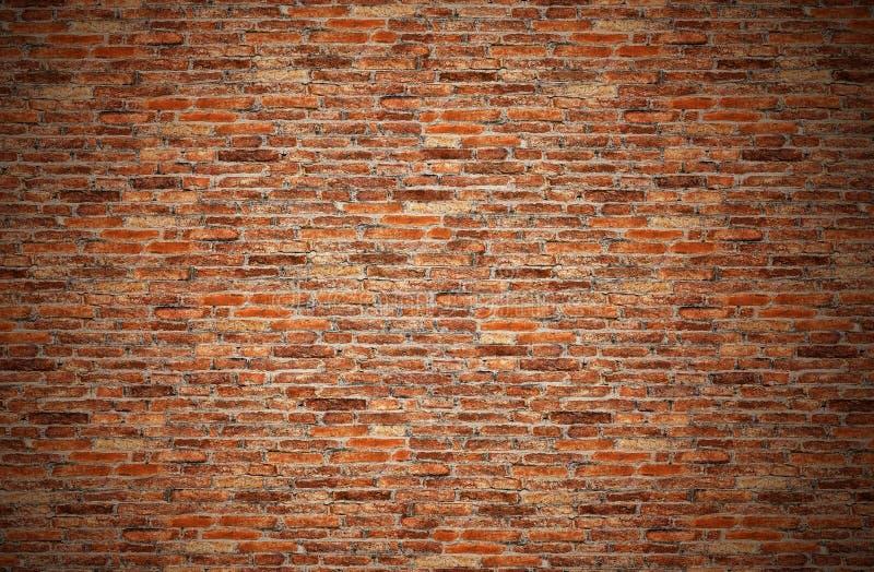 Vieux mur de briques rouge brun, orange, grunge pour la texture, fond images stock