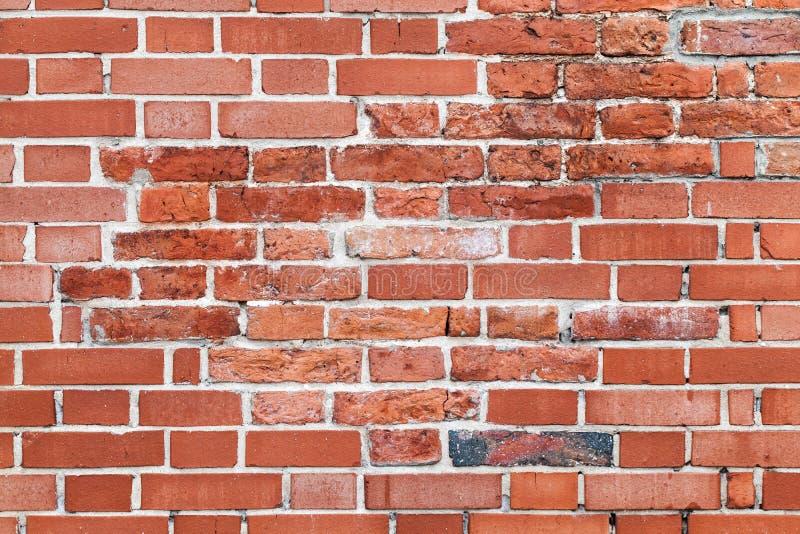 Vieux mur de briques rouge, fond plat détaillé image libre de droits