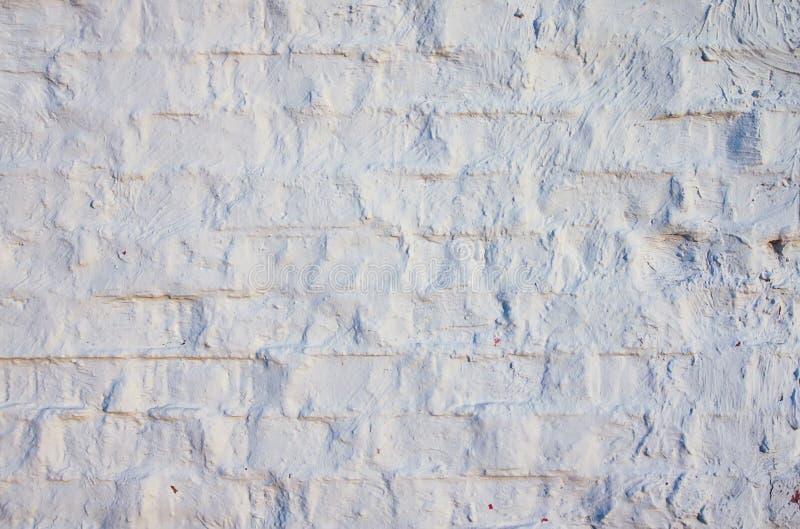 Vieux mur de briques Texture âgée affligée de recouvrement photos libres de droits