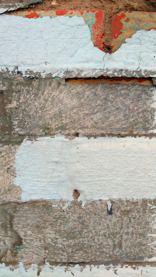 Vieux mur de colorfull images libres de droits