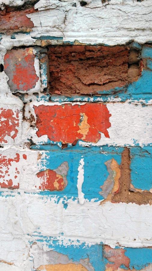 Vieux mur de colorfull photo libre de droits