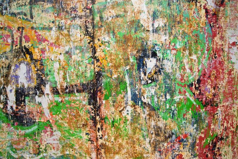 Vieux mur de graffiti en tant que fond urbain photographie stock