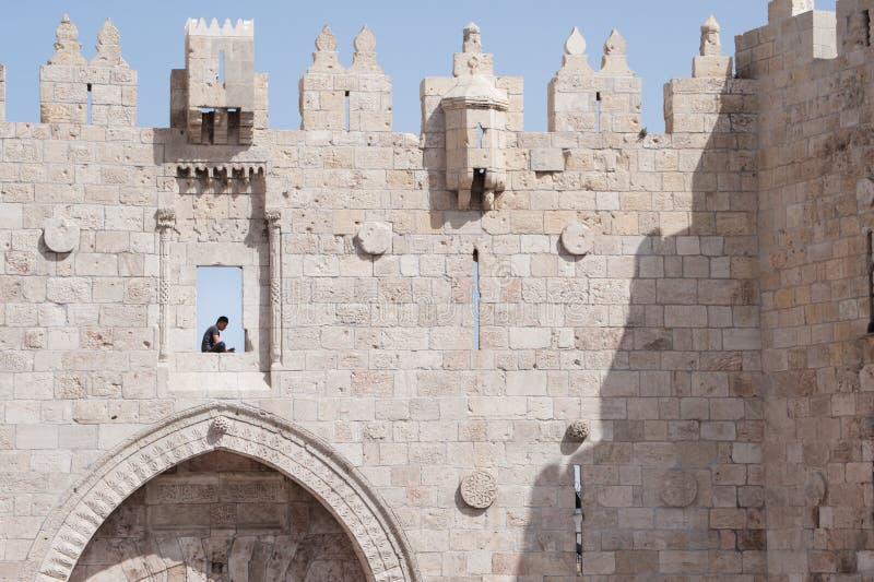 Vieux mur de la ville de Jérusalem images libres de droits