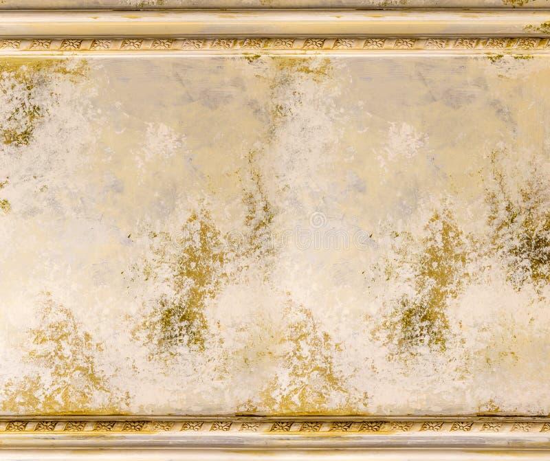 Vieux mur de peinture avec le victorian de cadre photo stock