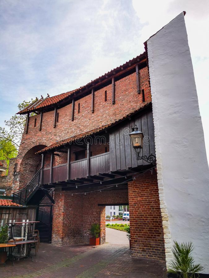 Vieux mur de ville dans Harderwijk, Pays-Bas photographie stock