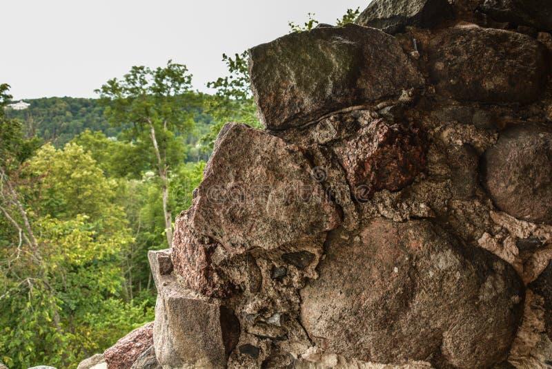 Vieux mur du mirador photographie stock libre de droits