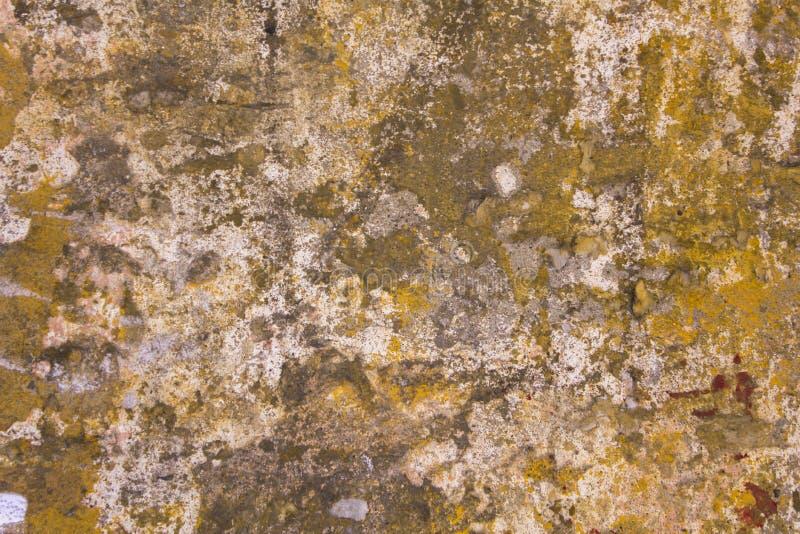 Vieux Mur En Béton Gris Endommagé Avec Des Taches De