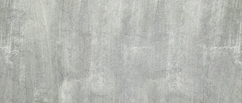 Vieux mur en béton grunge de ciment avec la ligne backgro de cercle de texture image libre de droits