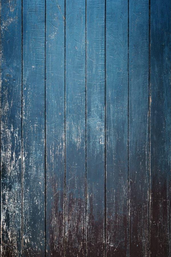 Vieux mur en bois bleu de conseil image libre de droits
