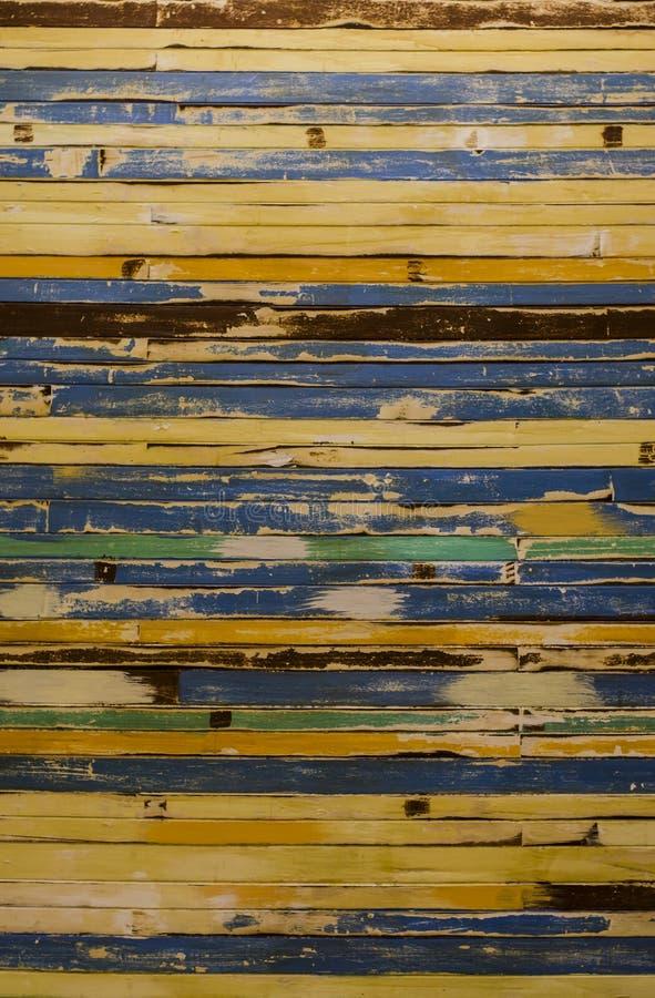 Vieux mur en bois de Colorfull photographie stock libre de droits
