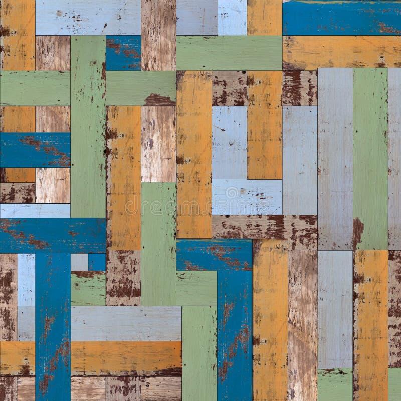 Vieux mur en bois peint abstrait photos stock