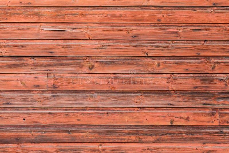 Vieux mur en bois rouge, photo détaillée de fond photo libre de droits