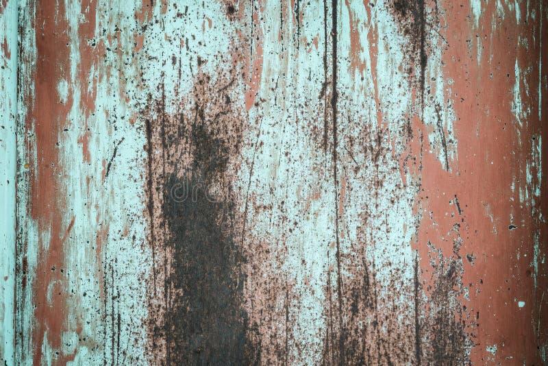 Vieux mur rouillé grunge de zinc pour le fond texturisé images libres de droits