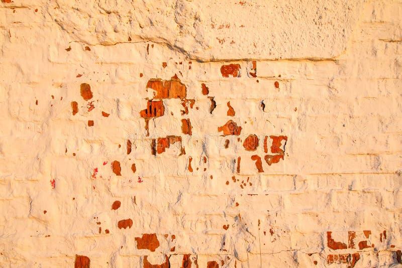 Vieux mur Texture âgée affligée de recouvrement Fond naturel grunge images libres de droits