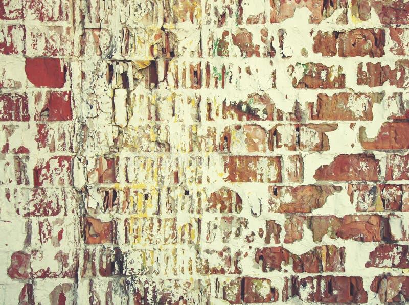 Vieux mur Texture âgée affligée de recouvrement Fond naturel grunge image libre de droits