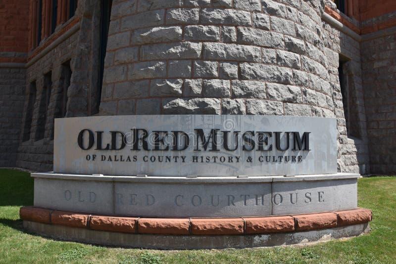 Vieux musée rouge, autrefois Dallas County Courthouse, dans le Texas images libres de droits