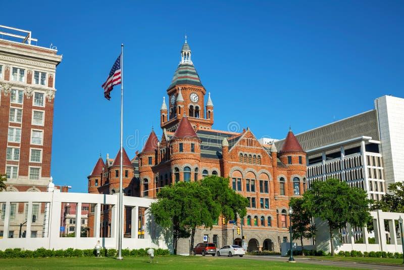 Vieux musée rouge de Dallas County History et de culture image libre de droits