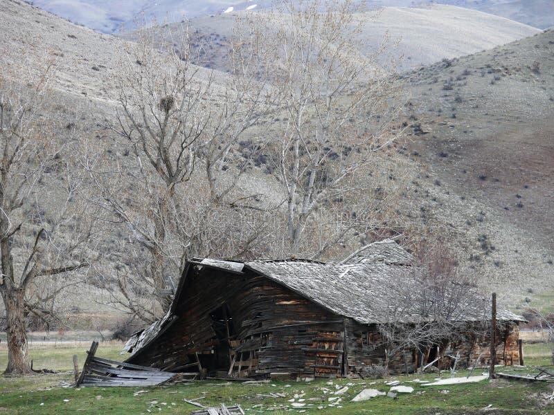 Vieux Ne fatigué de grange de nid d'oiseau de Boise W image libre de droits