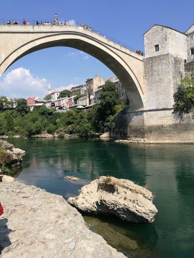 Vieux neretva de ville de Mostar Bosnie photo stock