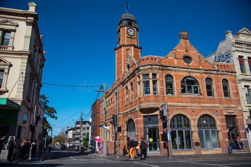 Vieux Newtown Post Office, un de beaucoup de bâtiments historiques en Nouvelle-Galles du Sud, est connu pour son histoire images libres de droits