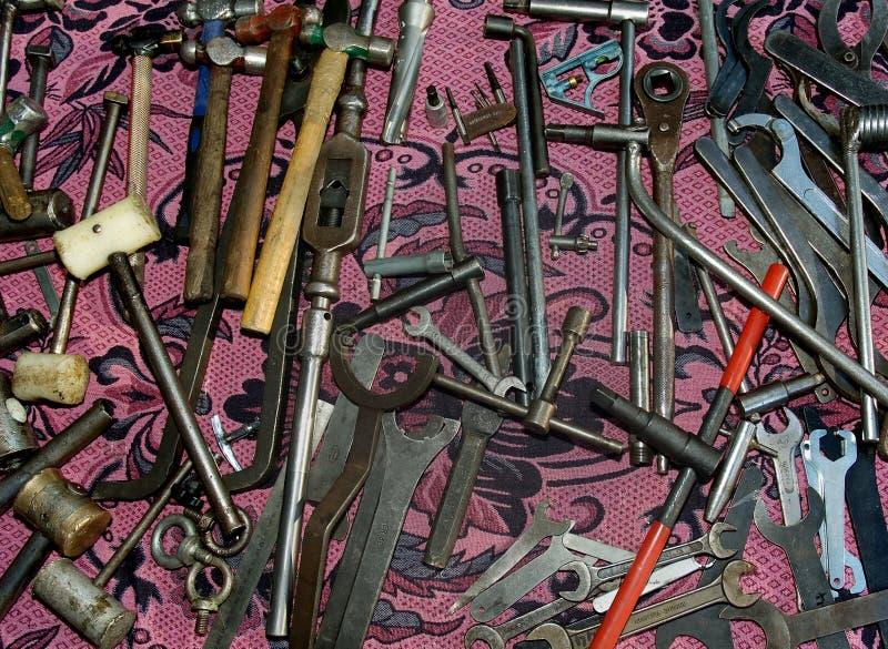Vieux outils d'acier et en bois photos libres de droits