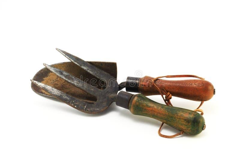 Vieux outils de jardin image libre de droits