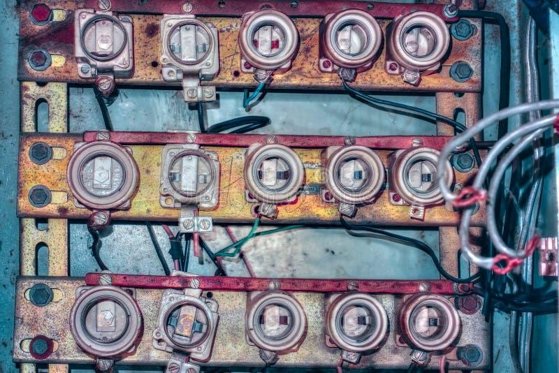 Vieux panneau en céramique de fusible images stock