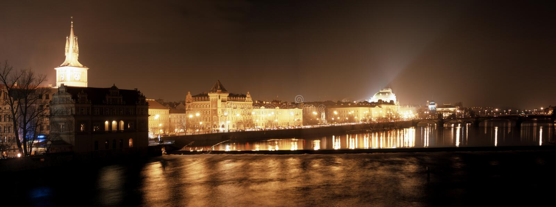 vieux panorama Praha photo libre de droits