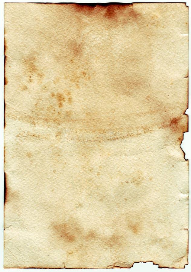Vieux papier âgé par cru Fond ou texture initial photographie stock libre de droits