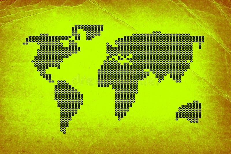 Vieux papier avec la carte pointillée illustration libre de droits